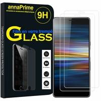 """Sony Xperia L3 5.7"""" I3312 I4312 I4332 I3322 [Les Dimensions EXACTES du telephone: 154 x 72 x 8.9 mm]: Lot / Pack de 2 Films de protection d'écran Verre Trempé"""
