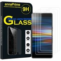 """Sony Xperia L3 5.7"""" I3312 I4312 I4332 I3322 [Les Dimensions EXACTES du telephone: 154 x 72 x 8.9 mm]: Lot / Pack de 3 Films de protection d'écran Verre Trempé"""