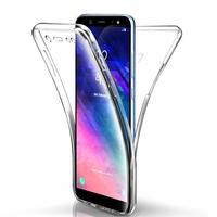 """Samsung Galaxy A6 (2018) 5.6""""/ A6 2018 Dual SIM (non compatible Galaxy A6+/ A6 Plus (2018) 6.0""""): Coque Housse Silicone Gel TRANSPARENTE ultra mince 360° protection intégrale Avant et Arrière - TRANSPARENT"""