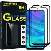 "Huawei P Smart+ (2019)/ P Smart Plus 2019 6.21"" (non compatible Huawei P smart 5.65"" (2017)/ P Smart+ (2018) 6.3""): Lot / Pack de 2 Films de protection d'écran Verre Trempé"