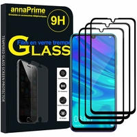 "Huawei P Smart+ (2019)/ P Smart Plus 2019 6.21"" (non compatible Huawei P smart 5.65"" (2017)/ P Smart+ (2018) 6.3""): Lot / Pack de 3 Films de protection d'écran Verre Trempé"