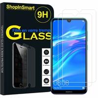 """Huawei Y7 (2019) 6.26"""" (non compatible Huawei Y7 (2018) 5.99""""): Lot / Pack de 2 Films de protection d'écran Verre Trempé"""