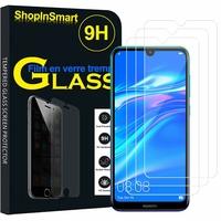 """Huawei Y7 (2019) 6.26"""" (non compatible Huawei Y7 (2018) 5.99""""): Lot / Pack de 3 Films de protection d'écran Verre Trempé"""