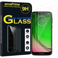 """Motorola Moto G7 Play 5.7"""" (non compatible G7 Power/ G7/ G7 Plus): Lot / Pack de 2 Films de protection d'écran Verre Trempé"""