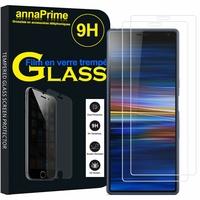 """Sony Xperia 10/ Xperia XA3 6.0"""" I3113 I4113 I4193 I3123 (non compatible Xperia 10 Plus 6.5"""") [Les Dimensions EXACTES du telephone: 155.7 x 68 x 8.4 mm]: Lot / Pack de 2 Films de protection d'écran Verre Trempé"""