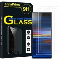 """Sony Xperia 10/ Xperia XA3 6.0"""" I3113 I4113 I4193 I3123 (non compatible Xperia 10 Plus 6.5"""") [Les Dimensions EXACTES du telephone: 155.7 x 68 x 8.4 mm]: Lot / Pack de 3 Films de protection d'écran Verre Trempé"""