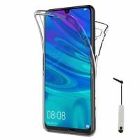 """Huawei P Smart (2019) 6.21"""" POT-LX3/ POT-LX1/ POT-AL00/ POT-LX1AF/ POT-LX2J/ POT-LX1RUA: Coque Housse Silicone Gel TRANSPARENTE ultra mince 360° protection intégrale Avant et Arrière + mini Stylet - TRANSPARENT"""