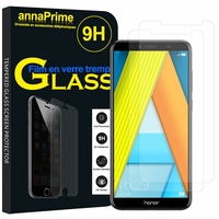 "Huawei Enjoy 8E 5.7"" ATU-AL10 ATU-TL10 (non compatible Huawei Enjoy 8E YOUTH 5.45""): Lot / Pack de 2 Films de protection d'écran Verre Trempé"
