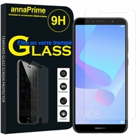 "Huawei Y6 Prime (2018) 5.7"" ATU-L31 ATU-L42 [Les Dimensions EXACTES du telephone: 152.4 x 73 x 7.8 mm]: 1 Film de protection d'écran Verre Trempé"