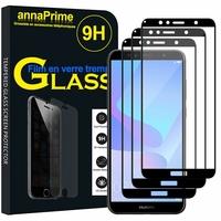 """Huawei Y6 Prime (2018) 5.7"""" ATU-L31 ATU-L42 [Les Dimensions EXACTES du telephone: 152.4 x 73 x 7.8 mm]: Lot / Pack de 3 Films de protection d'écran Verre Trempé"""
