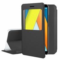 "Huawei Enjoy 8E 5.7"" ATU-AL10 ATU-TL10 (non compatible Huawei Enjoy 8E YOUTH 5.45""): Etui View Case Flip Folio Leather cover - NOIR"