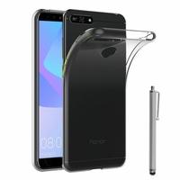 "Huawei Y6 Prime (2018) 5.7"" ATU-L31 ATU-L42 [Les Dimensions EXACTES du telephone: 152.4 x 73 x 7.8 mm]: Accessoire Housse Etui Coque gel UltraSlim et Ajustement parfait + Stylet - TRANSPARENT"
