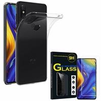 """Xiaomi Mi Mix 3 6.39"""" M1810E5A/ M1810E5E/ M1810E5C/ M1810E5T: Etui Housse Pochette Accessoires Coque gel UltraSlim - TRANSPARENT + 1 Film de protection d'écran Verre Trempé"""