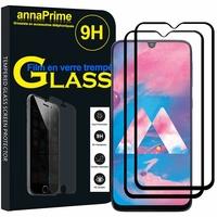 "Samsung Galaxy M30 SM-M305F 6.4"" [Les Dimensions EXACTES du telephone: 159 x 75.1 x 8.4 mm]: Lot / Pack de 2 Films de protection d'écran Verre Trempé"