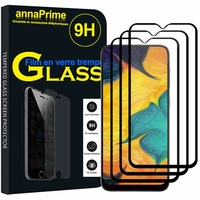 """Samsung Galaxy A30 SM-A305F 6.4"""" [Les Dimensions EXACTES du telephone: 158.5 x 74.5 x 7.7 mm]: Lot / Pack de 3 Films de protection d'écran Verre Trempé"""