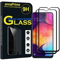 "Samsung Galaxy A50 SM-A505F 6.4"" [Les Dimensions EXACTES du telephone: 158.5 x 74.7 x 7.7 mm]: Lot / Pack de 2 Films de protection d'écran Verre Trempé"