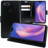 "Xiaomi Mi 8 Lite/ Mi8 Youth/ Mi 8X 6.26"" M1808D2TE/ M1808D2TC (non compatible Xiaomi Mi 8 SE 5.88""/ Mi 8 6.21""/ Mi 8 Pro): Accessoire Etui portefeuille Livre Housse Coque Pochette support vidéo cuir PU - NOIR"