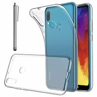 """Huawei Y6 (2019)/ Y6 Prime (2019) 6.09"""" (non compatible Huawei Y6 (2017)/ Y6 (2018)) [Les Dimensions EXACTES du telephone: 156.3 x 73.5 x 8 mm]: Accessoire Housse Etui Coque gel UltraSlim et Ajustement parfait + Stylet - TRANSPARENT"""