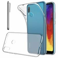 """Huawei Y6 Pro (2019) 6.09"""" MRD-LX2 (non compatible Huawei Y6 Pro (2017)): Accessoire Housse Etui Coque gel UltraSlim et Ajustement parfait + Stylet - TRANSPARENT"""