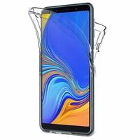 """Samsung Galaxy A7 (2018) 6.0"""" SM-A750F (non compatible Version 2014/ 2015/ 2016/ 2017): Coque Housse Silicone Gel TRANSPARENTE ultra mince 360° protection intégrale Avant et Arrière - TRANSPARENT"""
