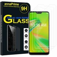 """Asus Zenfone Max Plus (M2) ZB634KL 6.26"""" (non compatible Zenfone Max (M2) ZB633KL): Lot / Pack de 3 Films de protection d'écran Verre Trempé"""