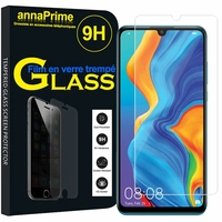"""Huawei P30 Lite 6.15"""" MAR-LX1M/ MAR-AL00/ MAR-TL00 (non compatible Huawei P30/ P30 Pro): 1 Film de protection d'écran Verre Trempé"""