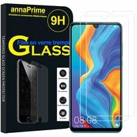 """Huawei P30 Lite 6.15"""" MAR-LX1M/ MAR-AL00/ MAR-TL00 (non compatible Huawei P30/ P30 Pro): Lot / Pack de 2 Films de protection d'écran Verre Trempé"""