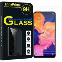 """Samsung Galaxy A10 6.2"""" SM-A105F/ A105F/DS [Les Dimensions EXACTES du telephone: 155.6 x 75.6 x 7.9 mm]: Lot / Pack de 2 Films de protection d'écran Verre Trempé"""