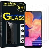 """Samsung Galaxy A10 6.2"""" SM-A105F/ A105F/DS [Les Dimensions EXACTES du telephone: 155.6 x 75.6 x 7.9 mm]: Lot / Pack de 3 Films de protection d'écran Verre Trempé"""