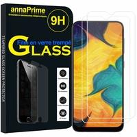 """Samsung Galaxy A20 6.4"""" SM-A205F/ A205F/DS (non compatible Galaxy A20e 5.8"""") [Les Dimensions EXACTES du telephone: 158.4 x 74.7 x 7.8 mm]: Lot / Pack de 2 Films de protection d'écran Verre Trempé"""