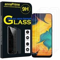 """Samsung Galaxy A20 6.4"""" SM-A205F/ A205F/DS (non compatible Galaxy A20e 5.8"""") [Les Dimensions EXACTES du telephone: 158.4 x 74.7 x 7.8 mm]: Lot / Pack de 3 Films de protection d'écran Verre Trempé"""