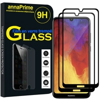"Huawei Enjoy 9E 6.09"" MRD-AL00 MRD-TL00 (non compatible Huawei Enjoy 9 6.26""/ Enjoy 9s 6.21""/ Enjoy 9 Plus 6.5""): Lot / Pack de 2 Films de protection d'écran Verre Trempé"