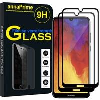 """Huawei Y6 Pro (2019) 6.09"""" MRD-LX2 (non compatible Huawei Y6 Pro (2017)): Lot / Pack de 2 Films de protection d'écran Verre Trempé"""