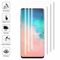 """Samsung Galaxy S10 6.1"""" (non compatible Galaxy S10 5G 6.7""""/ S10+ 6.4""""/ S10e 5.8""""): Lot/ Pack de 3 Films en Verre Trempé Bord Incurvé Resistant"""