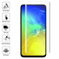 "Samsung Galaxy S10E 5.8""/ S10E (Essential/ Essentiel) SM-G970F/DS/ SM-G970U/ SM-G970W (non compatible Galaxy S10 5G 6.7""/ S10+ 6.4""/ S10 6.1""): 1 Film en Verre Trempé Bord Incurvé Resistant"