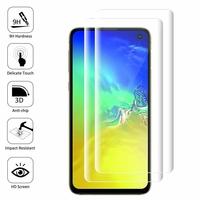 """Samsung Galaxy S10E 5.8""""/ S10E (Essential/ Essentiel) SM-G970F/DS/ SM-G970U/ SM-G970W (non compatible Galaxy S10 5G 6.7""""/ S10+ 6.4""""/ S10 6.1""""): Lot/ Pack de 2 Films en Verre Trempé Bord Incurvé Resistant"""