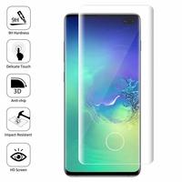 """Samsung Galaxy S10+/ S10 Plus 6.4"""" (non compatible Galaxy S10 5G 6.7""""/ S10 6.1""""/ S10e 5.8""""): 1 Film en Verre Trempé Bord Incurvé Resistant"""