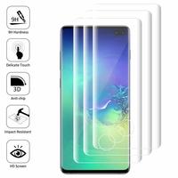 """Samsung Galaxy S10+/ S10 Plus 6.4"""" (non compatible Galaxy S10 5G 6.7""""/ S10 6.1""""/ S10e 5.8""""): Lot/ Pack de 3 Films en Verre Trempé Bord Incurvé Resistant"""