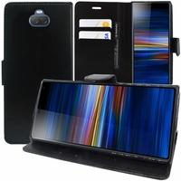 "Sony Xperia 10/ Xperia XA3 6.0"" I3113 I4113 I4193 I3123 (non compatible Xperia 10 Plus 6.5"") [Les Dimensions EXACTES du telephone: 155.7 x 68 x 8.4 mm]: Accessoire Etui portefeuille Livre Housse Coque Pochette support vidéo cuir PU - NOIR"