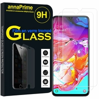 """Samsung Galaxy A70 6.7"""" SM-A705F/ SM-A7050/ SM-A705FN/ SM-A705F/DS [Les Dimensions EXACTES du telephone: 164.3 x 76.7 x 7.9 mm]: Lot / Pack de 2 Films de protection d'écran Verre Trempé"""