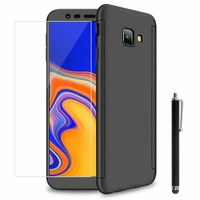 "Samsung Galaxy J4 Core (2018) 6.0"" (non compatible Galaxy J4 5.5"") [Les Dimensions EXACTES du telephone: 161.4 x 76.9 x 7.9 mm]: Coque de protection intégrale 360° Avant Et Arrière Ultra Mince Ultra Léger avec Verre Trempé pour l'Ecran + Stylet - NOI"