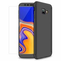 """Samsung Galaxy J4+/ J4 Plus (2018) 6.0"""" (non compatible Galaxy J4 5.5"""") [Les Dimensions EXACTES du telephone: 161.4 x 76.9 x 7.9 mm]: Coque de protection intégrale 360° Avant Et Arrière Ultra Mince Ultra Léger avec Verre Trempé pour l'Ecran - NOIR"""