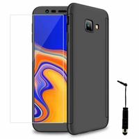 """Samsung Galaxy J4+/ J4 Plus (2018) 6.0"""" (non compatible Galaxy J4 5.5"""") [Les Dimensions EXACTES du telephone: 161.4 x 76.9 x 7.9 mm]: Coque de protection intégrale 360° Avant Et Arrière Ultra Mince Ultra Léger avec Verre Trempé pour l'Ecran + mini St"""