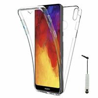"""Huawei Enjoy 9E 6.09"""" MRD-AL00 MRD-TL00 (non compatible Huawei Enjoy 9 6.26""""/ Enjoy 9s 6.21""""/ Enjoy 9 Plus 6.5""""): Coque Housse Silicone Gel TRANSPARENTE ultra mince 360° protection intégrale Avant et Arrière + mini Stylet - TRANSPARENT"""