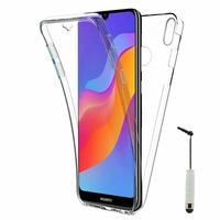 "Huawei Honor Play 8A 6.09"" JAT-AL00 JAT-TL00 (non compatible Honor Play (2018) 6.3""): Coque Housse Silicone Gel TRANSPARENTE ultra mince 360° protection intégrale Avant et Arrière + mini Stylet - TRANSPARENT"