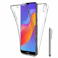 "Huawei Honor Play 8A 6.09"" JAT-AL00 JAT-TL00 (non compatible Honor Play (2018) 6.3""): Coque Housse Silicone Gel TRANSPARENTE ultra mince 360° protection intégrale Avant et Arrière + Stylet - TRANSPARENT"