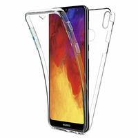 """Huawei Y6 (2019)/ Y6 Prime (2019) 6.09"""" (non compatible Huawei Y6 (2017)/ Y6 (2018)) [Les Dimensions EXACTES du telephone: 156.3 x 73.5 x 8 mm]: Coque Housse Silicone Gel TRANSPARENTE ultra mince 360° protection intégrale Avant et Arrière - TRANSPARENT"""