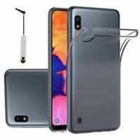 """Samsung Galaxy A10 6.2"""" SM-A105F/ A105F/DS [Les Dimensions EXACTES du telephone: 155.6 x 75.6 x 7.9 mm]: Accessoire Housse Etui Coque gel UltraSlim et Ajustement parfait + mini Stylet - TRANSPARENT"""