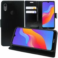 """Huawei Honor Play 8A 6.09"""" JAT-AL00 JAT-TL00 (non compatible Honor Play (2018) 6.3""""): Accessoire Etui portefeuille Livre Housse Coque Pochette support vidéo cuir PU - NOIR"""