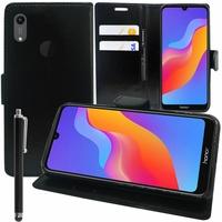 """Huawei Honor Play 8A 6.09"""" JAT-AL00 JAT-TL00 (non compatible Honor Play (2018) 6.3""""): Accessoire Etui portefeuille Livre Housse Coque Pochette support vidéo cuir PU + Stylet - NOIR"""
